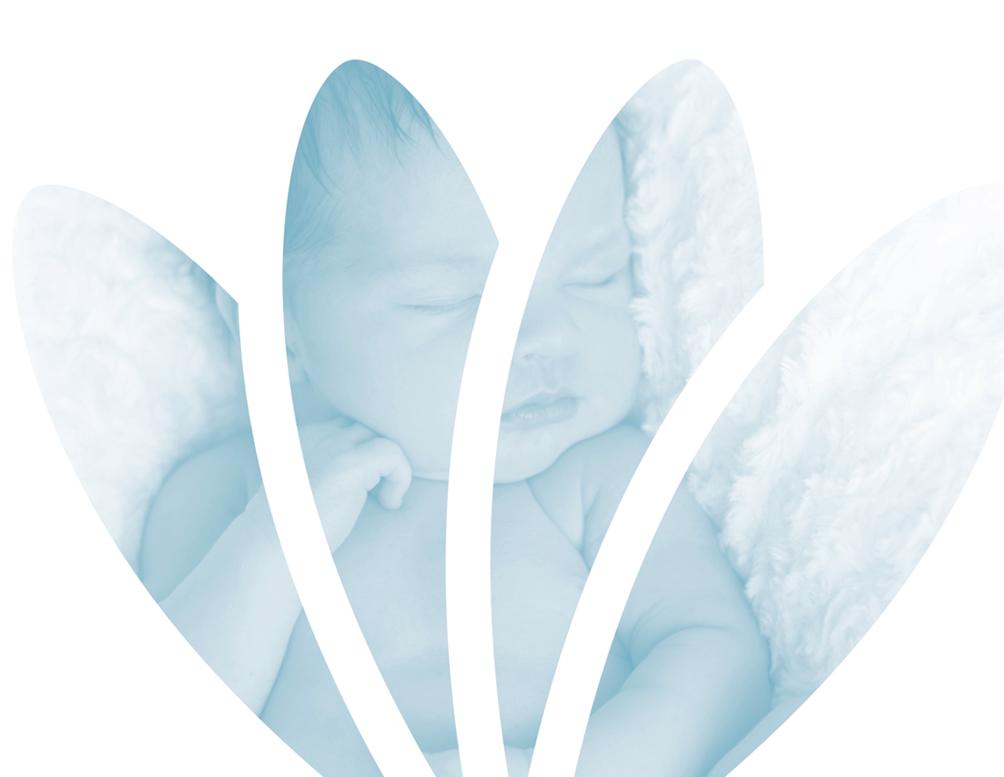 Logo Fiere verloskundigen met baby op achtergrond
