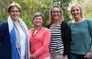 Team van Fiere Verloskundigen volgnr. Benice Klingenborg, Saskia van Barneveld, Jenneke Kruidhof, Itske Huberts