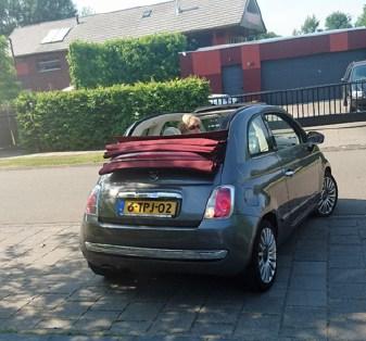 Benice Klingenborg en auto