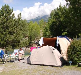 kampeersite in de bergen