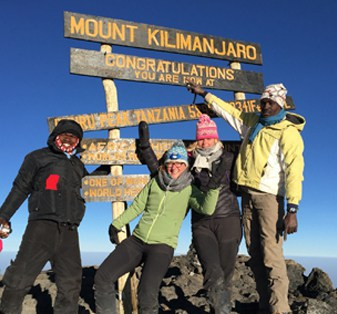 Jenneke Kruidhof bij Kilimanjaro