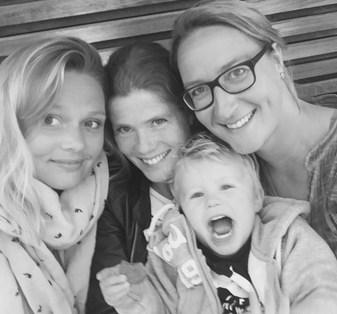 Jenneke Kruidhof met kinderen