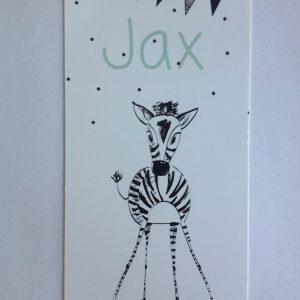 geboortekaart Jax