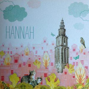 geboortekaart Hannah