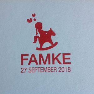 geboortekaart Famke