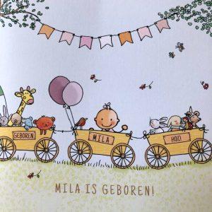 geboortekaart Mila