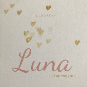 geboortekaart Luna