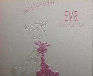 geboortekaart Eva